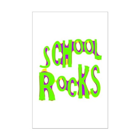 School Rocks - Lime Mini Poster Print
