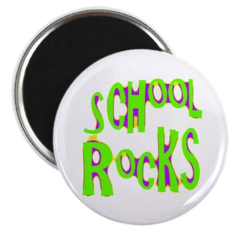 "School Rocks - Lime 2.25"" Magnet (10 pack)"