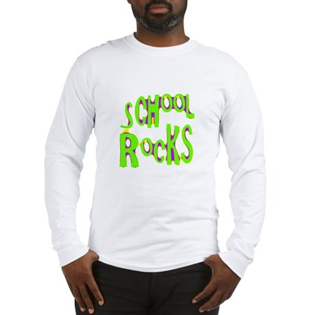 School Rocks - Lime Long Sleeve T-Shirt