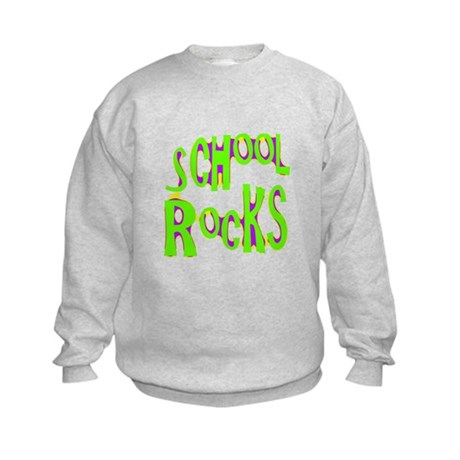 School Rocks - Lime Kids Sweatshirt