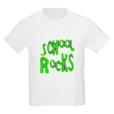 School Rocks - Lime Kids Light T-Shirt