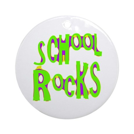 School Rocks - Lime Ornament (Round)