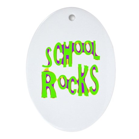 School Rocks - Lime Oval Ornament