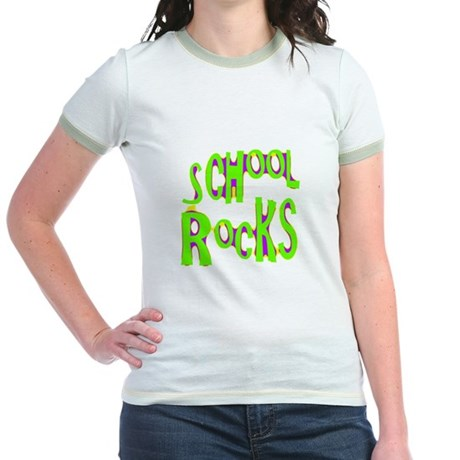 School Rocks - Lime Jr. Ringer T-Shirt
