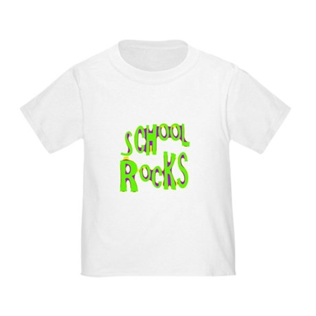 School Rocks - Lime Toddler T-Shirt