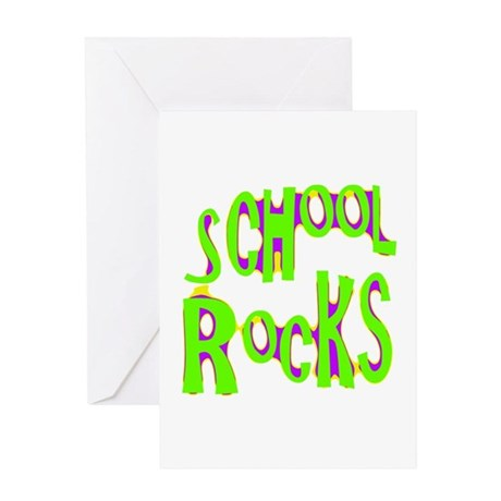 School Rocks - Lime Greeting Card