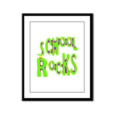 School Rocks - Lime Framed Panel Print
