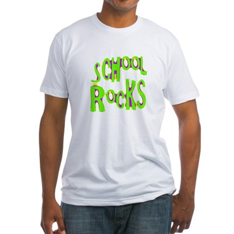 School Rocks - Lime Fitted T-Shirt