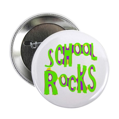 School Rocks - Lime Button