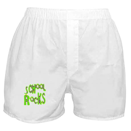 School Rocks - Lime Boxer Shorts