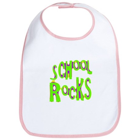 School Rocks - Lime Bib