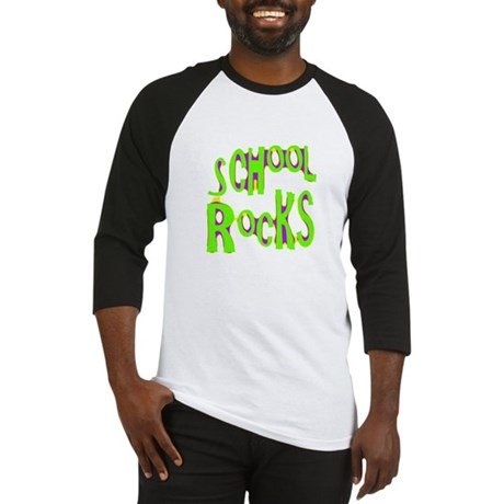 School Rocks - Lime Baseball Jersey