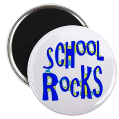 "School Rocks - Blue 2.25"" Magnet (10 pack)"