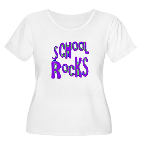 School Rocks - Purple - Women's Plus Size Scoop N