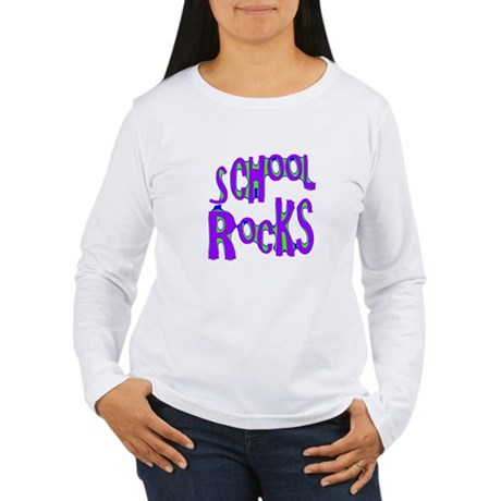 School Rocks - Purple - Women's Long Sleeve T-Shi