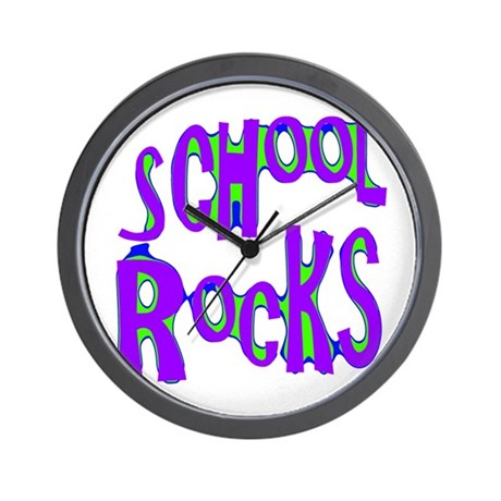 School Rocks - Purple - Wall Clock