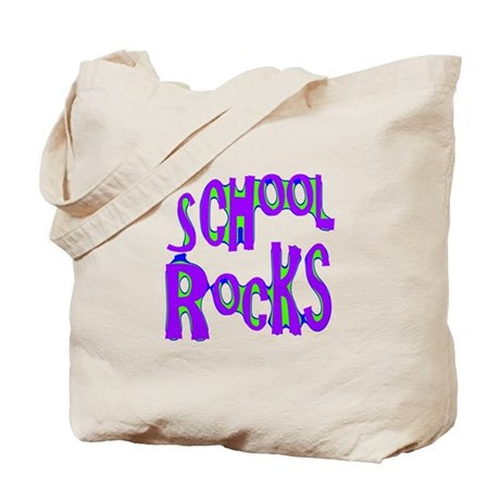 School Rocks - Purple - Tote Bag