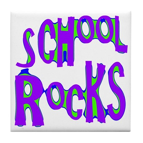 School Rocks - Purple - Tile Coaster