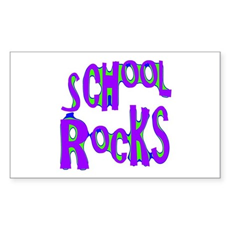 School Rocks - Purple - Rectangle Sticker