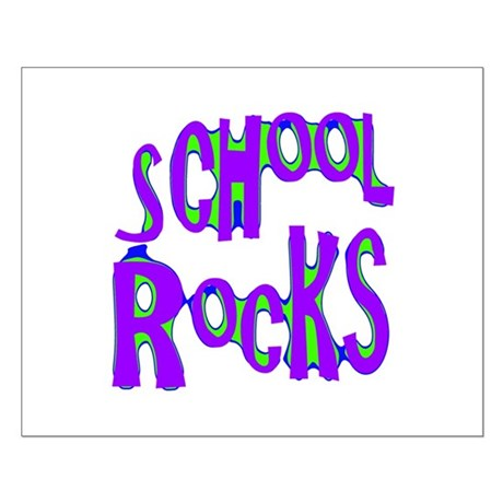 School Rocks - Purple - Small Poster
