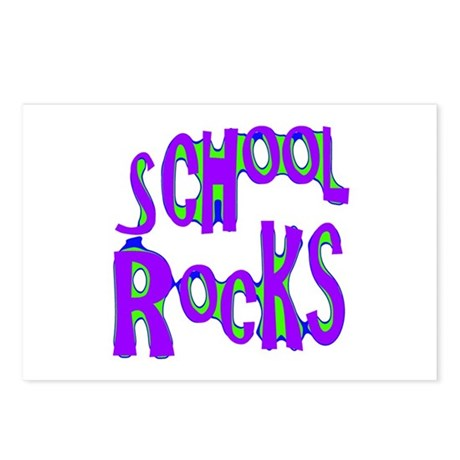 School Rocks - Purple - Postcards (Package of 8)