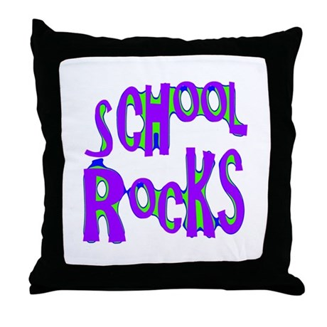 School Rocks - Purple - Throw Pillow