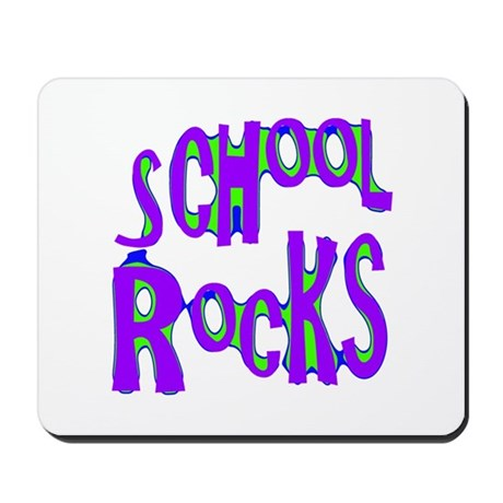 School Rocks - Purple - Mousepad