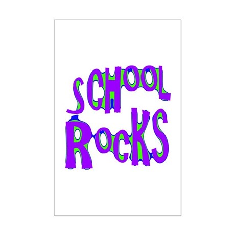 School Rocks - Purple - Mini Poster Print