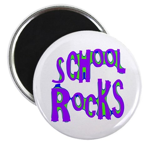 "School Rocks - Purple - 2.25"" Magnet (10 pack)"