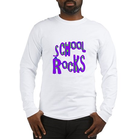 School Rocks - Purple - Long Sleeve T-Shirt