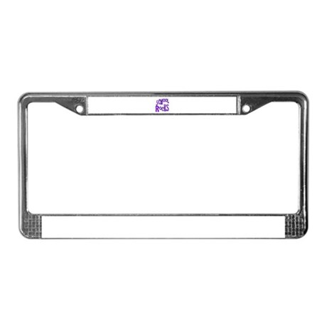 School Rocks - Purple - License Plate Frame