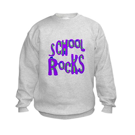 School Rocks - Purple - Kids Sweatshirt