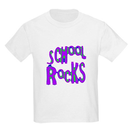 School Rocks - Purple - Kids Light T-Shirt