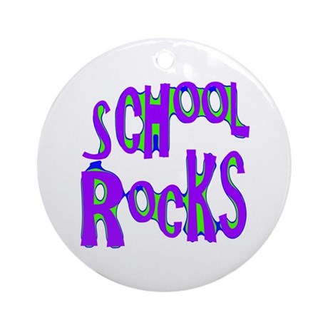 School Rocks - Purple - Ornament (Round)