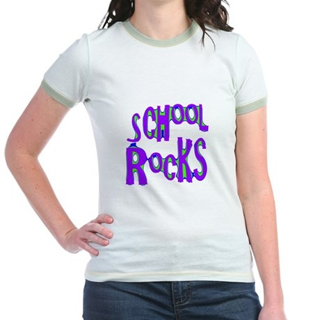 School Rocks - Purple - Jr. Ringer T-Shirt