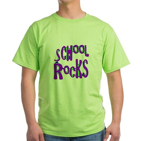School Rocks - Purple - Green T-Shirt