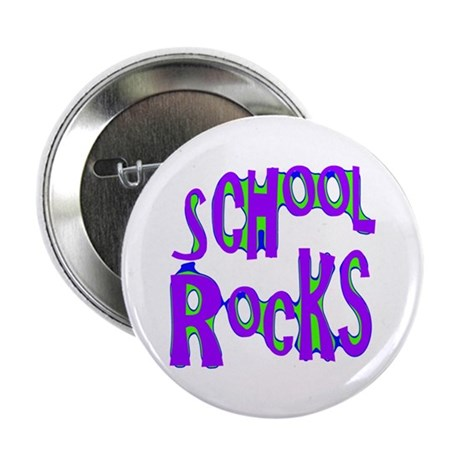"School Rocks - Purple - 2.25"" Button (10 pack)"