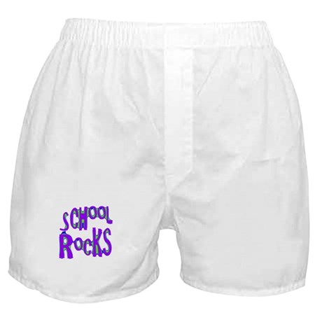 School Rocks - Purple - Boxer Shorts