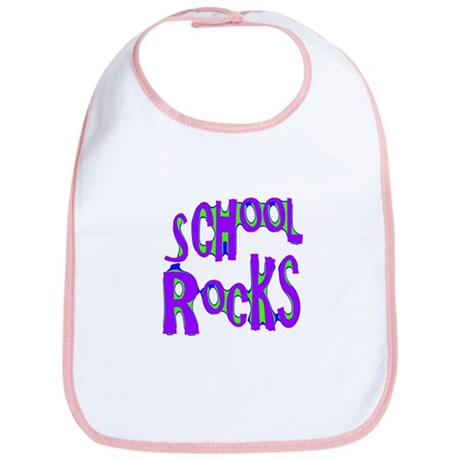 School Rocks - Purple - Bib