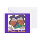 L'Chaim Jewish New Years Greeting Card