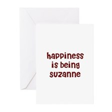 happiness is being Suzanne Greeting Cards (Pk of 1
