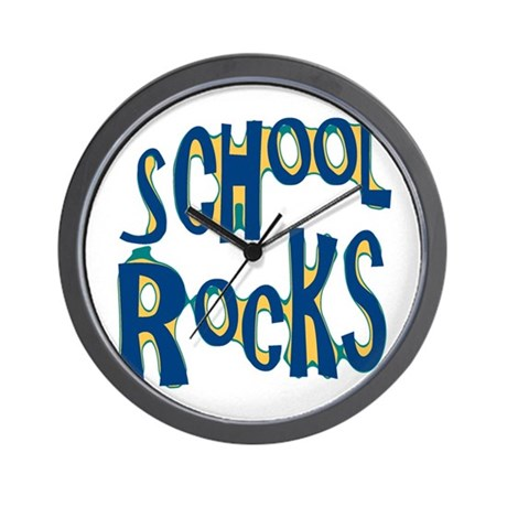 School Rocks - Dk Teal - Wall Clock