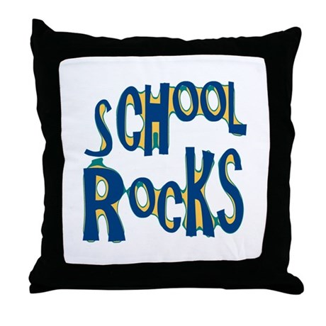 School Rocks - Dk Teal - Throw Pillow
