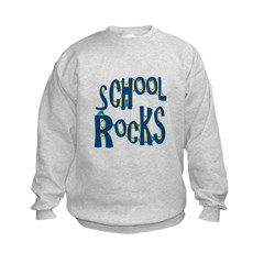 School Rocks - Dk Teal - Kids Sweatshirt
