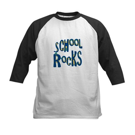 School Rocks - Dk Teal - Kids Baseball Jersey