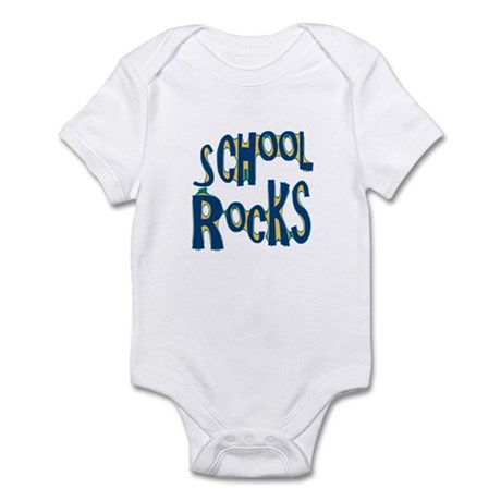School Rocks - Dk Teal - Infant Bodysuit