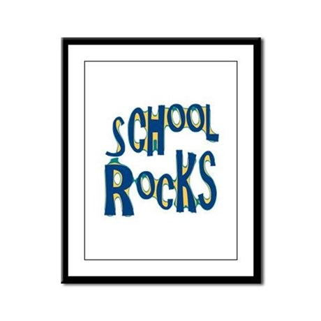 School Rocks - Dk Teal - Framed Panel Print