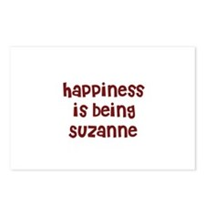 happiness is being Suzanne Postcards (Package of 8