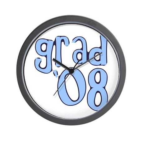 Grad 08 - lt Blue Wall Clock