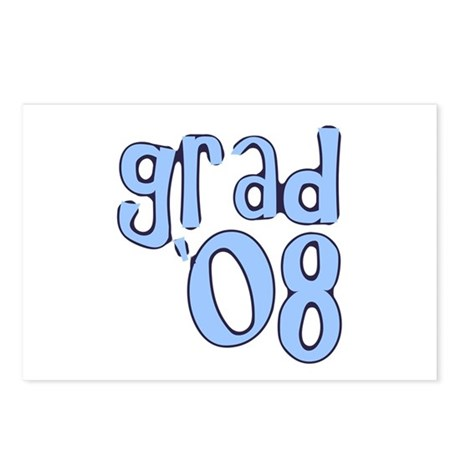 Grad 08 - lt Blue Postcards (Package of 8)